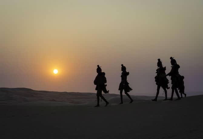 שבט ההימבה בזריחה המדברית_wilderness safaris