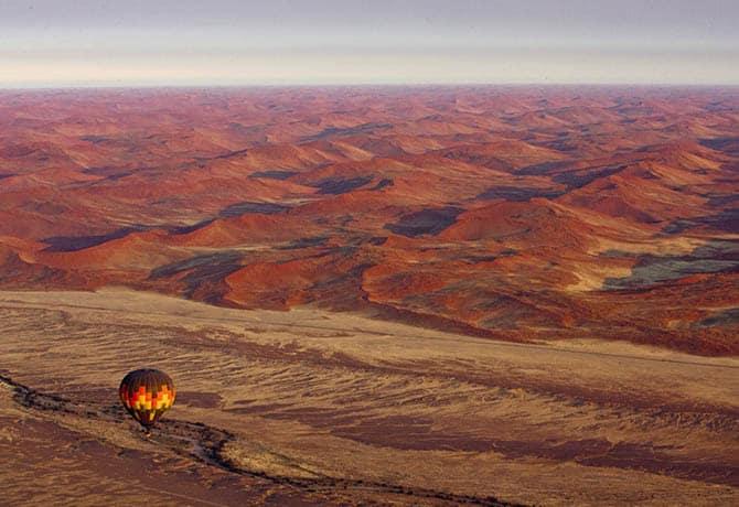 כדור פורח במדבר נמיביה
