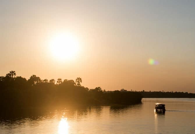 שקיעה בנהר הזמבזי
